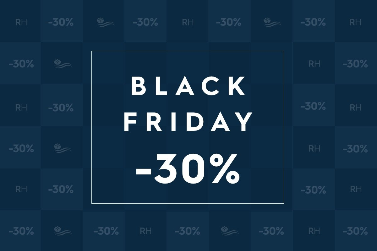 Jusqu'à 30% de réduction pour le Black Friday